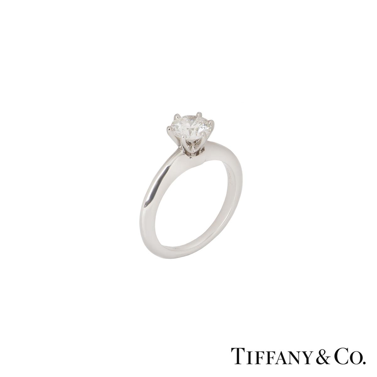 Tiffany & Co. Platinum Diamond Setting Ring 0.86ct I/VS1 XXX